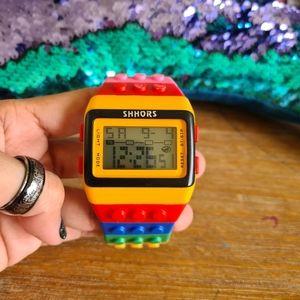 Rainbow Bricks watch for Kids 20cm Sport LED Stopwatch